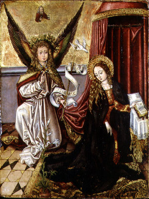 The Annunciation Fine Art Print by Martin Schongauer