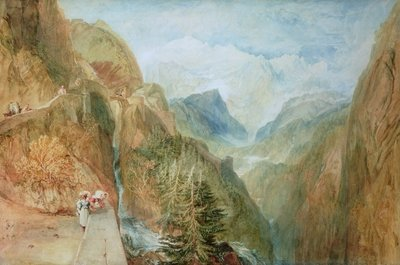 Mont Blanc from Fort Rock in Val D'Aosta, c.1810 Poster Art Print by Joseph Mallord William Turner
