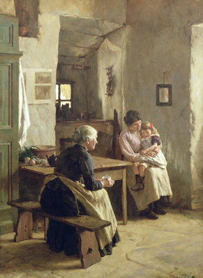 Mother Love Poster Art Print by Walter Langley