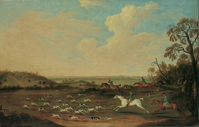 A Hunt in Full Cry at Quorley, Hampshire, c.1770 Postcards, Greetings Cards, Art Prints, Canvas, Framed Pictures, T-shirts & Wall Art by James Seymour