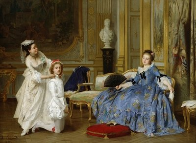 Dressing up Fine Art Print by Joseph Caraud