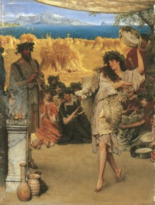 A Harvest Festival, 1880 Poster Art Print by Sir Lawrence Alma-Tadema