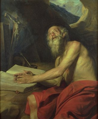 The Vision of St. Jerome Fine Art Print by Juan Martin Cabezalero