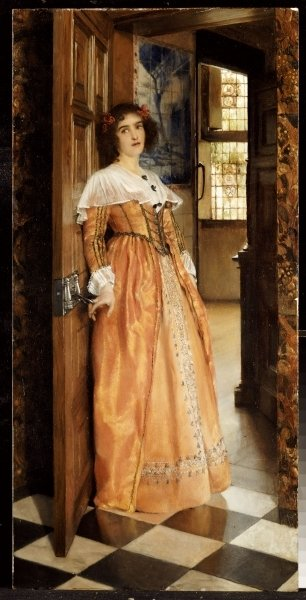 At the Doorway, c.1898 Fine Art Print by Laura Theresa Alma-Tadema