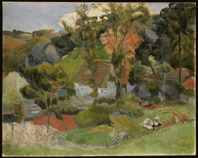 Landscape at Pont Aven, 1888 Fine Art Print by Paul Gauguin