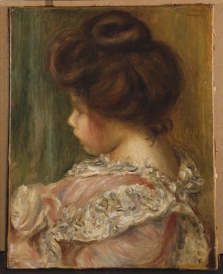 Portrait of a young girl Wall Art & Canvas Prints by Pierre-Auguste Renoir