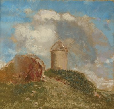 The Windmill, c.1880 Fine Art Print by Odilon Redon