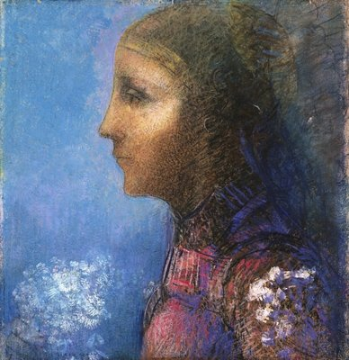 Profile: The Flag Fine Art Print by Odilon Redon
