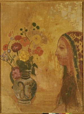 Profile of a Woman Fine Art Print by Odilon Redon