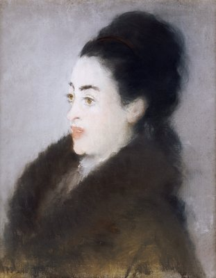 Woman in a Fur Coat in Profile, 1879 Fine Art Print by Edouard Manet
