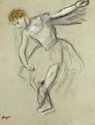 A Dancer in Profile Fine Art Print by Edgar Degas