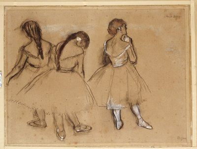 Three Dancers Fine Art Print by Edgar Degas