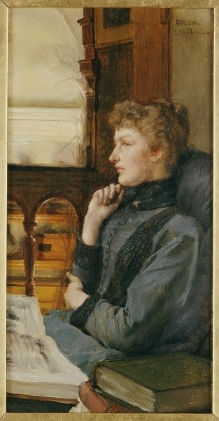 Far Away Thoughts, 1890 Wall Art & Canvas Prints by Sir Lawrence Alma-Tadema