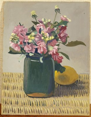 A Bouquet of Flowers and a Lemon, 1924 Fine Art Print by Felix Edouard Vallotton