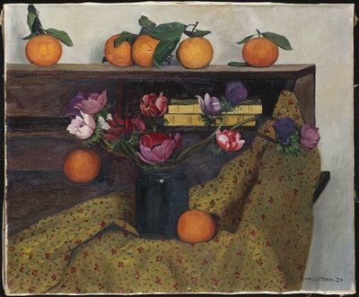Anemones and Oranges, 1924 Fine Art Print by Felix Edouard Vallotton