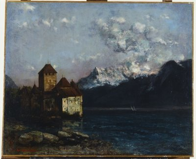 The Chateau de Chillon, 1877 Postcards, Greetings Cards, Art Prints, Canvas, Framed Pictures & Wall Art by Gustave Courbet