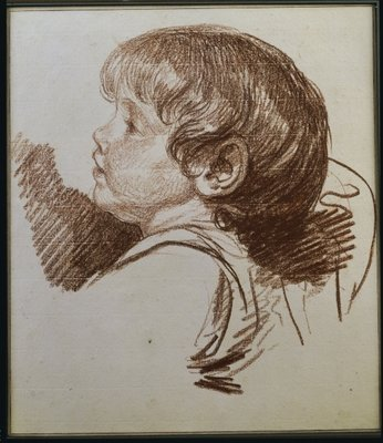 Head of a boy in profile to the ledt Fine Art Print by Jean Baptiste Greuze