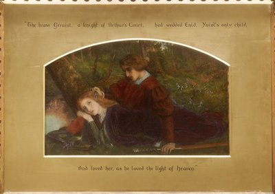 Enid and Geraint Fine Art Print by Arthur Hughes