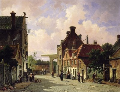 Pearn Street, Amsterdam Postcards, Greetings Cards, Art Prints, Canvas, Framed Pictures & Wall Art by Adrianus Eversen