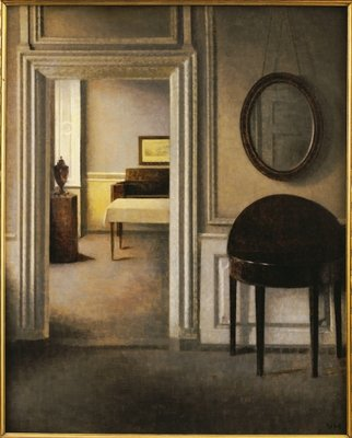 The Music Room, 30 Strandgade, c.1907 Wall Art & Canvas Prints by Vilhelm Hammershoi