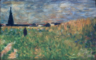 Fields in Summer Poster Art Print by Georges Seurat