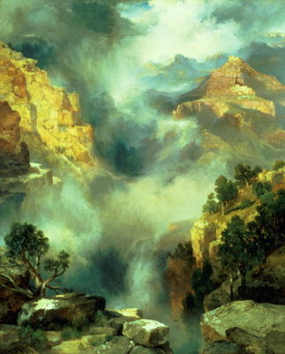 Mist in the Canyon, 1914 Fine Art Print by Thomas Moran
