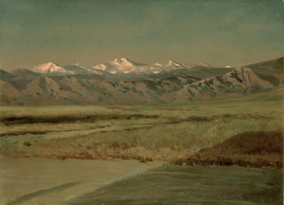 The Grand Tetons, Wyoming Fine Art Print by Albert Bierstadt