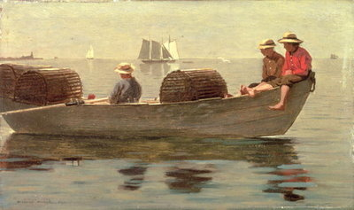 Three Boys in a Dory, 1873 Poster Art Print by Winslow Homer