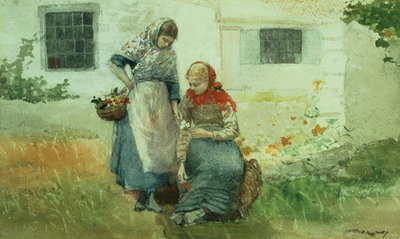 Picking Flowers, 1881 Fine Art Print by Winslow Homer