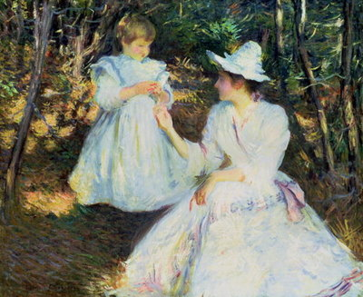 Mother and Child in Pine Woods, c.1893 Fine Art Print by Edmund Charles Tarbell