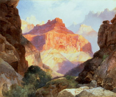 Under the Red Wall, Grand Canyon of Arizona, 1917 Wall Art & Canvas Prints by Thomas Moran