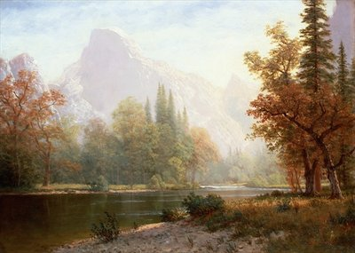 Half Dome, Yosemite Poster Art Print by Albert Bierstadt