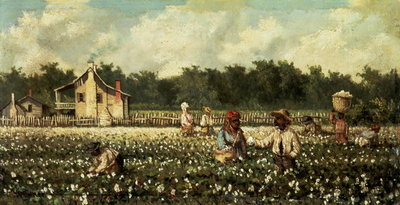 Cotton Field, Mississippi Postcards, Greetings Cards, Art Prints, Canvas, Framed Pictures, T-shirts & Wall Art by William Aiken Walker