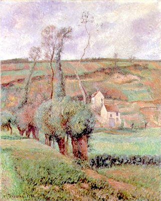 The Cote de Chou at Pontoise, 1882 Poster Art Print by Camille Pissarro