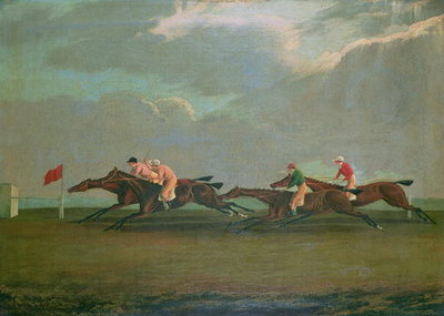Racing at Cheltenham, 1826 Poster Art Print by English School
