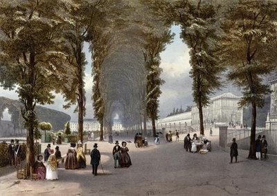 View of Paris: le Jardin des Plantes, c.1840 Fine Art Print by Julien Jacottet