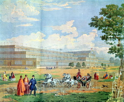 View of the Crystal Palace Fine Art Print by English School