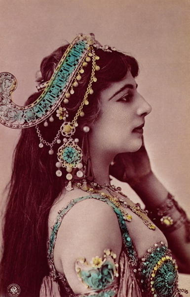 Postcard of Mata Hari Fine Art Print by Anonymous