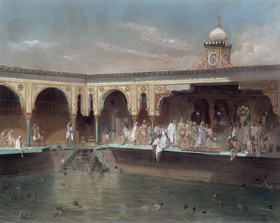 The Deligny Baths, Paris, 1842 Fine Art Print by French School
