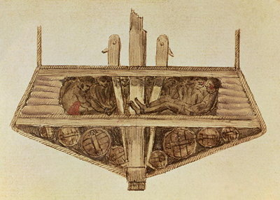 Cross-section of a slave ship, from a manuscript on slavery by the artist, late 18th century Wall Art & Canvas Prints by Jacques-Henri Bernardin de Saint-Pierre