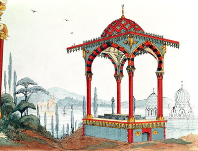 Architectural sketch in Turkey, late 19th century Fine Art Print by French School