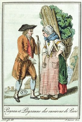 Peasants from the Paris Region, from 'Encylopedie des Voyages' by Jules Grasset de Saint-Sauveur Fine Art Print by L.F. Labrousse