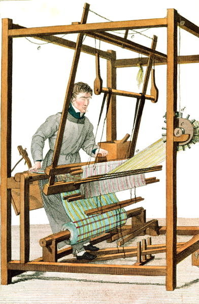 Blindman using a loom, plate 17 from 'Essai sur l'Instruction des Aveugles' by Dr Sebastien Guillie Fine Art Print by Julie Ribault