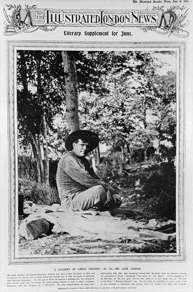"Jack London (1876-1916), from ""The Illustrated London News"", 6th June 1914 (b/w photo) Wall Art & Canvas Prints by English Photographer"