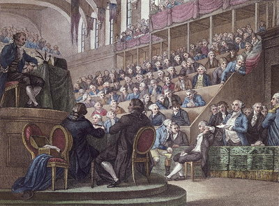 The Trial of Louis XVI Fine Art Print by Miller