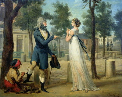 Incroyable et Merveilleuse in Paris, 1797 Fine Art Print by Louis Leopold Boilly