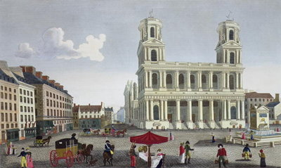 The Place Saint Sulpice, c.1815-20 Fine Art Print by Henri Courvoisier-Voisin