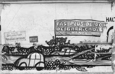 Caricature on the walls of the old Faculty of Medicine, Paris, May 1968 Wall Art & Canvas Prints by French School