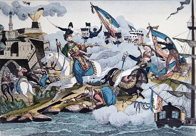 Conquest of Algiers by French troops in 1830, c.1830-40 Wall Art & Canvas Prints by French School