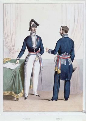 French Prefect and Mayor during the period Fine Art Print by Alexandre Lacauchie